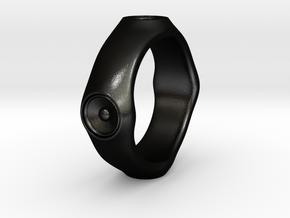 Dizzy Lizzy - Ring - US 9 - 19 mm inside diameter in Matte Black Steel