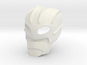 Kanohi Suletu (Inorganic) in White Strong & Flexible