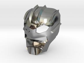 Kanohi Suletu (Inorganic) in Fine Detail Polished Silver