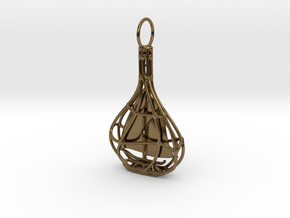 Ship In A Bottle Pendant  in Polished Bronze