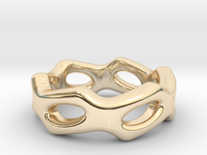 Fantasy Ring 16 - Italian Size 16 in 14k Gold Plated Brass