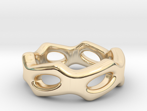 Fantasy Ring 30 - Italian Size 30 in 14k Gold Plated Brass