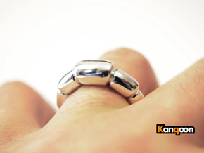 Magdalena - Ring - US 9¾ - 19,5 mm inside diamete in Polished Silver