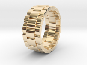 Tibalda - Ring in 14k Gold Plated Brass: 11 / 64