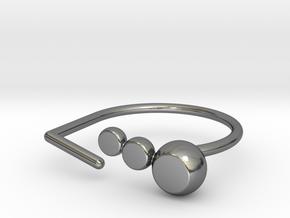 Ring gem. Model 1. Size 9. in Fine Detail Polished Silver