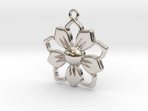 Pendant_01 in Rhodium Plated Brass