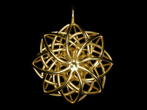 Woven Star Pendant in Polished Brass