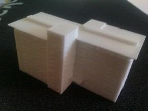 Caswell T gauge (1:450) Modern Block of Flats in White Natural Versatile Plastic