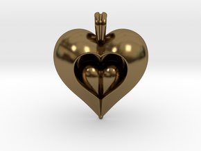 Love in Polished Bronze
