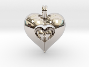 Open Love in Rhodium Plated Brass