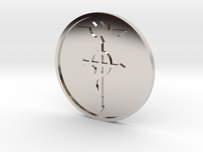 Elric Symbol Coin in Rhodium Plated Brass