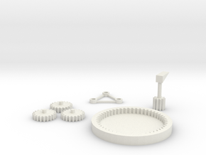 Gear Motion Demonstration  in White Natural Versatile Plastic