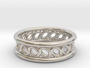 GBW5 Mns Loop Band in Rhodium Plated Brass
