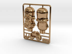 SmileCappy Plastic Model 50mm in Polished Brass