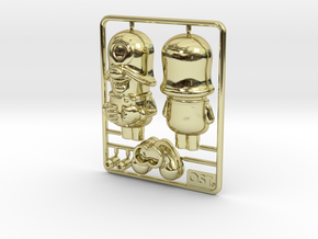 SmileCappy Plastic Model 50mm in 18k Gold Plated Brass