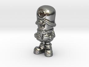 SmileCappy FullColor in Polished Silver