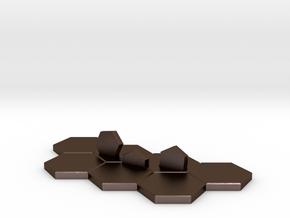 Hex-tile Card holder in Polished Bronze Steel