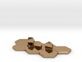 Hex-tile Card holder in Polished Brass