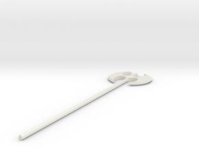 Battleaxe in White Natural Versatile Plastic