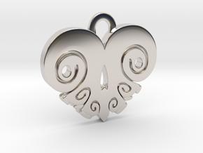 BoneHeart Pendant. in Platinum