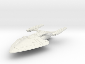 StarArmada Class BattleCruiser in White Strong & Flexible