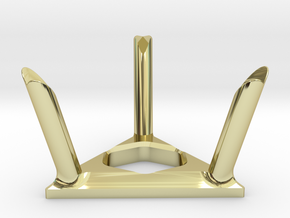Twisty Puzzle Stand in 18k Gold Plated Brass