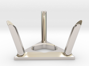 Twisty Puzzle Stand in Rhodium Plated Brass