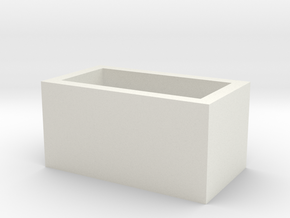 Speaker Box in White Natural Versatile Plastic