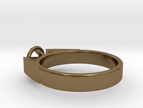 Design Ring For Diamond Ø17.83 Mm  Model Alessa  in Polished Bronze