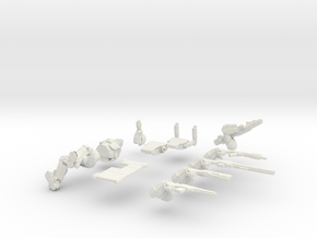 28mm scale infantry - Overseer (ball joints) in White Natural Versatile Plastic