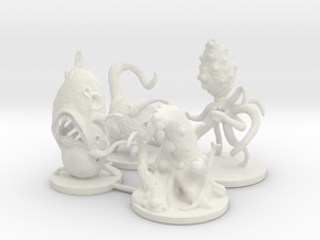 Microvores: Microorganism Miniatures  in White Natural Versatile Plastic