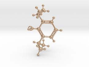 Propofol Molecule in 14k Rose Gold Plated Brass