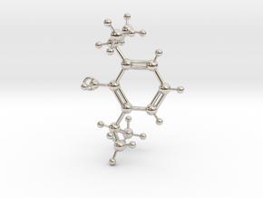 Propofol Molecule in Rhodium Plated Brass