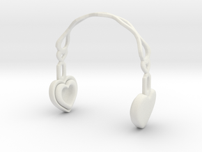 Headphones Heart Version: BJD Doll SD 1/3 size in White Natural Versatile Plastic