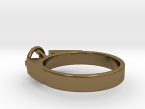 Design Ring For Diamond Ø17 Mm/0.669 inch  Model A in Polished Bronze