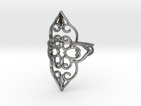 Bloom - size 6 in Fine Detail Polished Silver