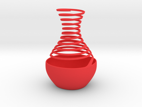 Spiral Vase 1 in Red Strong & Flexible Polished
