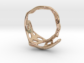 s3r013s8 GenusReticulum    in 14k Rose Gold Plated Brass