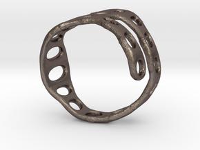 s3r017s8 GenusReticulum  in Polished Bronzed Silver Steel