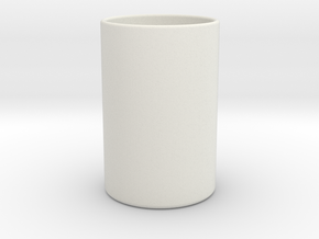 Shot glass in White Strong & Flexible