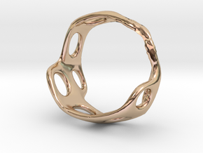 s3r025s8 GenusReticulum in 14k Rose Gold Plated Brass