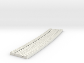 P-165stw-long-curved-y-tram-track-100-w-3a in White Natural Versatile Plastic