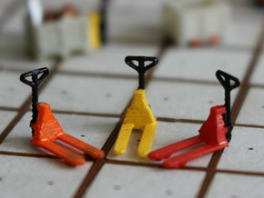 N Scale Pallet Jack (6pc) in Smooth Fine Detail Plastic