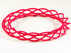 Twist Bangle A01M in Pink Processed Versatile Plastic