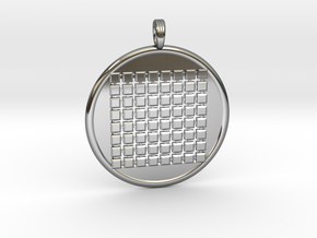 SIXTY-FOUR GRID GROUND in Fine Detail Polished Silver
