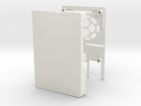 Raspberry Pi 2 / B+ Case in White Natural Versatile Plastic
