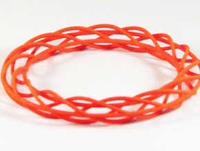 Twist Bangle A02M in Orange Strong & Flexible Polished