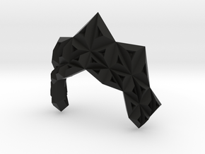 Origami Ruff in Black Natural Versatile Plastic