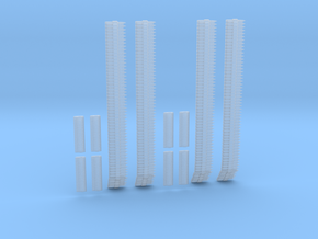 1-24 Ammo Belts Cal 30 And 50 Set 2 in Smooth Fine Detail Plastic