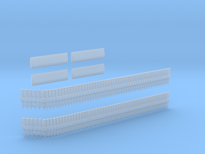 1-24 Ammo Belts Cal 30 And 50 in Smooth Fine Detail Plastic